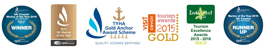 Mayflower Marina Plymouth Awards